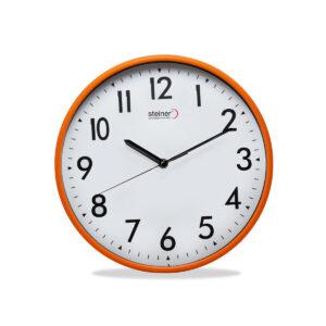 reloj naranja de pared - steiner